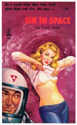 Sin in Space - 11 x 17 Retro Book Cover Poster