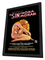 Sin of Nora Moran - 27 x 40 Movie Poster - Style A - in Deluxe Wood Frame
