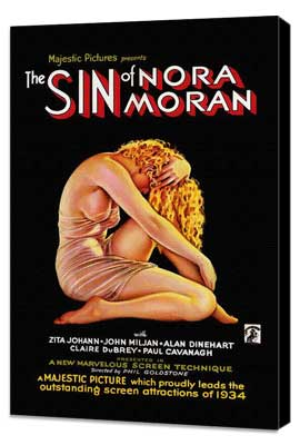 Sin of Nora Moran - 27 x 40 Movie Poster - Style A - Museum Wrapped Canvas