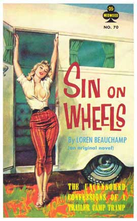 Sin on Wheels - 11 x 17 Retro Book Cover Poster