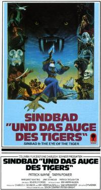 Sinbad and the Eye of the Tiger - 27 x 40 Movie Poster - German Style A