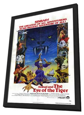 Sinbad and the Eye of the Tiger - 27 x 40 Movie Poster - Style A - in Deluxe Wood Frame
