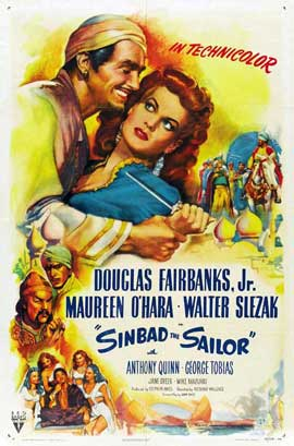 Sinbad, the Sailor - 11 x 17 Movie Poster - Style B