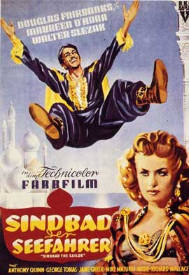 Sinbad, the Sailor - 11 x 17 Movie Poster - German Style A