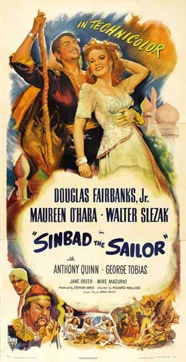 Sinbad, the Sailor - 27 x 40 Movie Poster - Style D