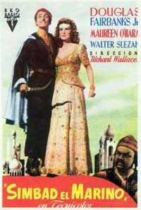 Sinbad, the Sailor - 11 x 17 Movie Poster - Spanish Style A