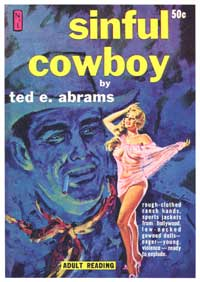 Sinful Cowboy - 11 x 17 Retro Book Cover Poster
