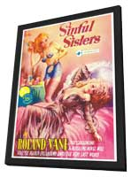 Sinful Sisters - 11 x 17 Retro Book Cover Poster - in Deluxe Wood Frame