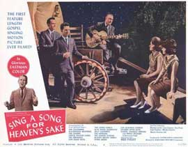 Sing a Song, For Heaven's Sake - 11 x 14 Movie Poster - Style D