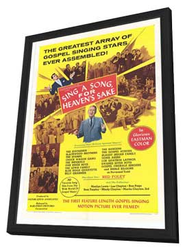 Sing a Song, For Heaven's Sake - 11 x 17 Movie Poster - Style A - in Deluxe Wood Frame