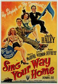 Sing Your Way Home - 43 x 62 Movie Poster - Bus Shelter Style A