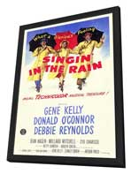 Singin' in the Rain - 11 x 17 Movie Poster - Style D - in Deluxe Wood Frame