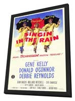 Singin' in the Rain - 27 x 40 Movie Poster - Style B - in Deluxe Wood Frame