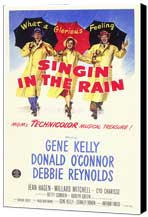 Singin' in the Rain - 27 x 40 Movie Poster - Style B - Museum Wrapped Canvas