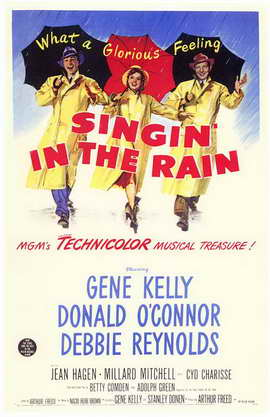 Singin' in the Rain - 11 x 17 Movie Poster - Style D