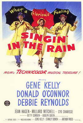 Singin' in the Rain - 27 x 40 Movie Poster - Style B