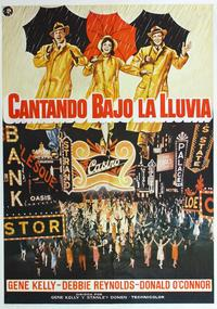 Singin' in the Rain - 27 x 40 Movie Poster - Spanish Style A