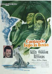 Singin' in the Rain - 27 x 40 Movie Poster - Spanish Style B