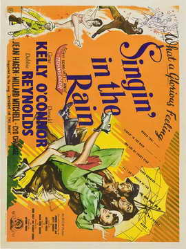 Singin' in the Rain - 30 x 40 Movie Poster UK - Style B