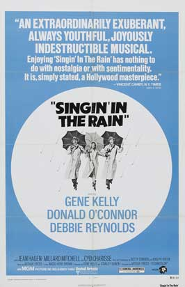 Singin' in the Rain - 27 x 40 Movie Poster - Style F
