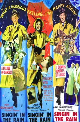 Singin' in the Rain - 27 x 40 Movie Poster - Style G