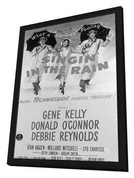Singin' in the Rain - 11 x 17 Movie Poster - Style H - in Deluxe Wood Frame