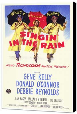 Singin' in the Rain - 11 x 17 Movie Poster - Style D - Museum Wrapped Canvas