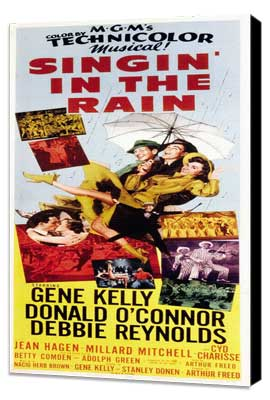 Singin' in the Rain - 14 x 36 Movie Poster - Insert Style A - Museum Wrapped Canvas
