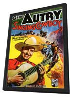 Singing Cowboy - 11 x 17 Movie Poster - Style A - in Deluxe Wood Frame