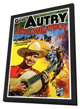Singing Cowboy - 27 x 40 Movie Poster - Style A - in Deluxe Wood Frame