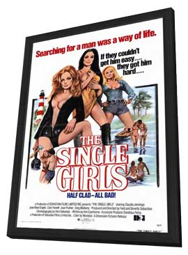 Single Girls - 11 x 17 Movie Poster - Style A - in Deluxe Wood Frame