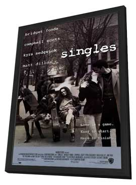 Singles - 27 x 40 Movie Poster - Style A - in Deluxe Wood Frame