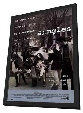 Singles - 11 x 17 Movie Poster - Style A - in Deluxe Wood Frame