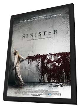 Sinister - 27 x 40 Movie Poster - Style C - in Deluxe Wood Frame