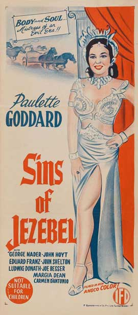 Sins of Jezebel - 11 x 17 Movie Poster - Australian Style A