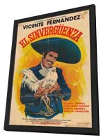 Sinverg�enza, El - 11 x 17 Movie Poster - Spanish Style A - in Deluxe Wood Frame