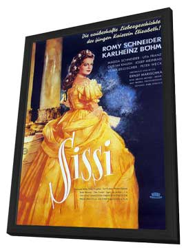 Sissi - 11 x 17 Movie Poster - German Style A - in Deluxe Wood Frame