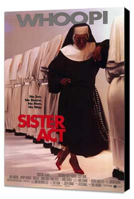 Sister Act - 27 x 40 Movie Poster - Style D - Museum Wrapped Canvas