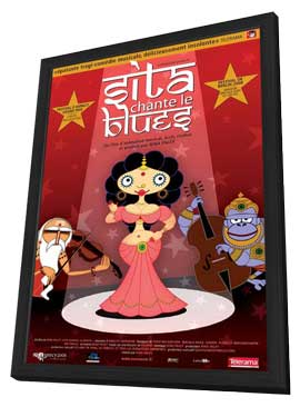 Sita Sings the Blues - 11 x 17 Movie Poster - French Style A - in Deluxe Wood Frame