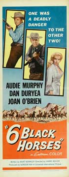 Six Black Horses - 14 x 36 Movie Poster - Insert Style A