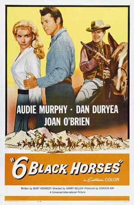 Six Black Horses - 11 x 17 Movie Poster - Style A