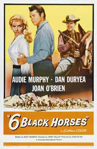 Six Black Horses - 43 x 62 Movie Poster - Bus Shelter Style A
