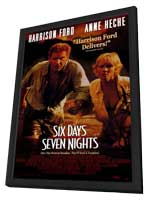 Six Days, Seven Nights - 11 x 17 Movie Poster - Style A - in Deluxe Wood Frame