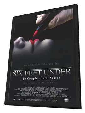 Six Feet Under - 11 x 17 TV Poster - Style C - in Deluxe Wood Frame