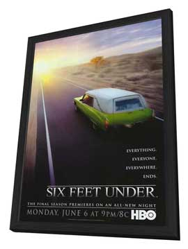 Six Feet Under - 11 x 17 TV Poster - Style G - in Deluxe Wood Frame
