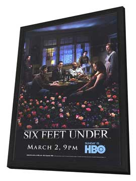 Six Feet Under - 27 x 40 TV Poster - Style A - in Deluxe Wood Frame