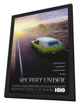 Six Feet Under - 27 x 40 TV Poster - Style C - in Deluxe Wood Frame