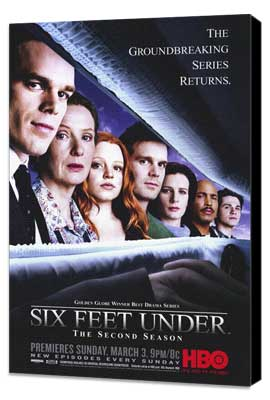 Six Feet Under - 11 x 17 TV Poster - Style E - Museum Wrapped Canvas