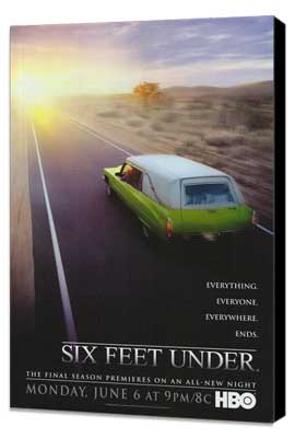 Six Feet Under - 27 x 40 TV Poster - Style C - Museum Wrapped Canvas