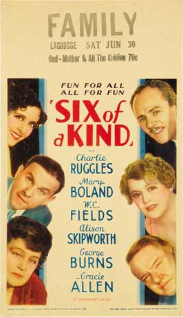 Six of a Kind - 11 x 17 Movie Poster - Style A